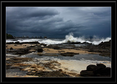 Gloomy Morning (Barbara J H) Tags: ocean sea bravo rocks waves australia qld mooloolaba stormyseas gloomyweather barbarajh bestofaustralia