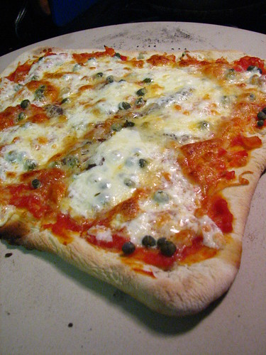 Homemade Pizza with Capers and Anchovies