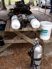 Blue Grotto Gear Prep (se2schul) Tags: florida gue dir rebreather rb80 fortyfathomgrotto