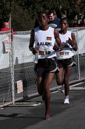 Borrowed Image:  Malawians crossing finish line