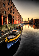 Albert Dock (BarneyF) Tags: city reflection building water liverpool boat center hdr albertdock ih merseyside liverbuilding capitalofculture liverpool08