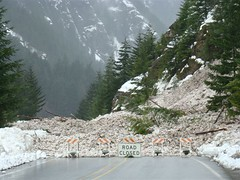 Road closure west of Diablo (WSDOT photo)