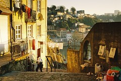 Picturesque view in Porto, Portugal (RvDario) Tags: sunset summer favorite portugal nature beautiful trash alley europe village view horizon porto laundry picturesque unescoworldheritage softlight romanticview romanticeurope picturesquevillage picturesqueviews sublimelighting sunsetinporto
