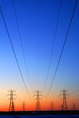 megawatts (pfala) Tags: sunset lines power powerlines electricity megawatts blueribbonwinner abigfave colorphotoaward newacademy overtheexcellence photoquebec pfala platimumheartaward paulfalardeau