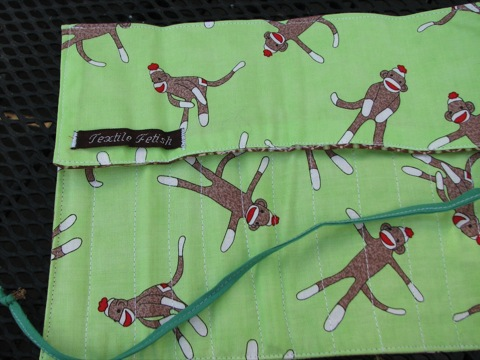 Monkey Sock Needle Case