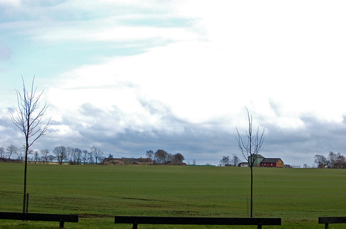 城前の芝生