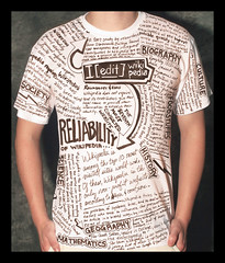 Wikipedia - T-shirt (mikeedesign) Tags: writing magazine poster marketing tshirt advert wikipedia scrawl campaign mindmap artdirection journaling ieditwikipedia hollyshields