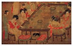 Un palacio de conciertos(parte)-Anonimo-Dinastia T'ang -618-907-tamaño 48X69 cms