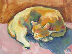 one more (jenjoaquin) Tags: new sleeping orange art cat painting fb contemporary oil marvin wetpaint jenjoaquin bloggerslideshow vibrantartstudios vibrantpaintings