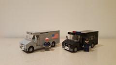 Trucks (Project Azazel) Tags: truck lego swat swattruck legotruck custom pa projectazazel customlego deliverytruck