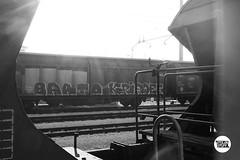#stolenstuff #graffitiblog #flickr4stolen #barto #kripoee #graffititrain #freight #blackandwhite #fr8 #graffiti #instagraff #freightculture (stolenstuff) Tags: instagram stolenstuff graffiti graffititrain benching