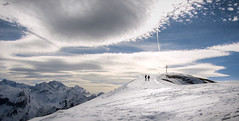 Closer to heaven (VandenBerge Photography) Tags: mountains alps europe travel winter winterscape weather nature panorama people cross sky skyscape snow snowscape switzerland season view canon clouds fronalpstock cantonschwyz lonelyplanet