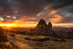 The Cathedral (Bjorn Baklien) Tags: mtbuffalo mountain landscape sunset clouds beautiful sun sunstar cathedral buffalo national park reflection tor rock australia victoria alps