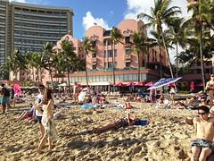 Waikiki - Royal Hawaiian - 2017 (tonopah06) Tags: royalhawaiian hawaii hi waikiki honolulu iphone image beach airport 2017