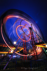 Spinning Light (anjur) Tags: blue light color wheel indonesia nikon ferris tokina jakarta 1224mm d300 pasarmalam blueribbonwinner explored flickrsbest komediputar