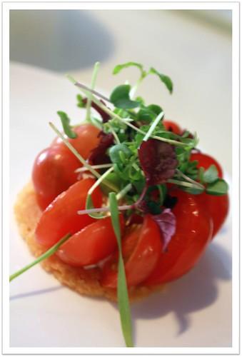 7atenine - Parmesan Tart with Baby Tomatoes