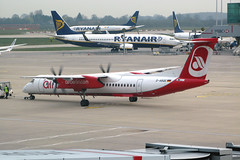 Air Berlin D-ABQE (Howard_Pulling) Tags: uk essex stansted stn dhc airberlin dhc8 dhc8400 dabqe stanstedairpot