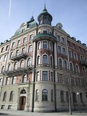 Residential building on Strandvgen/Banrgatan (Fredrik (-S-)) Tags: sweden stockholm turret stermalm strandvgen 2011 residentialbuilding