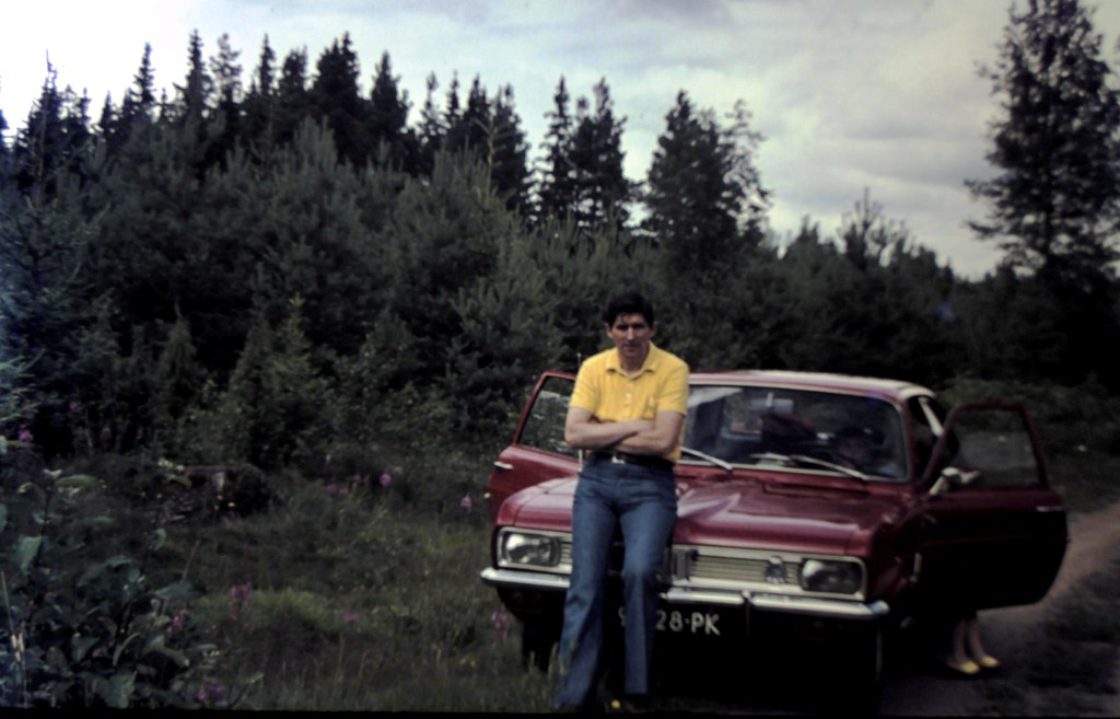 My father - when he was my age now- with his first all new car