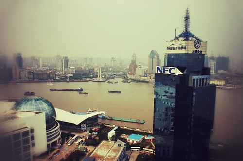 Shanghai from the top of the Oriental Pearl TV Tower