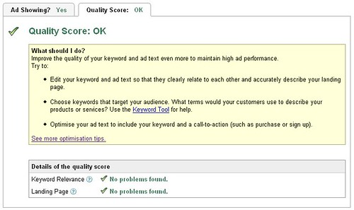 AdWords OK Quality Score