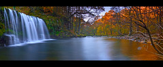 SGWD DDWLI, DOWNSTREAM PANO (Antony....) Tags: autumn wales waterfall cymru velvia pontneddfechan ystradfellte golddragon superbmasterpiece