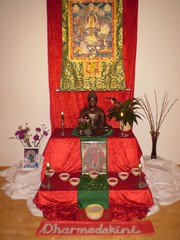 Shrine for Dharmadakini's welcome evening