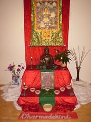 Shrine for Dharmadakini's welcome evening