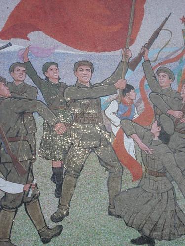 Pyongyang Mosaic Mural - detail