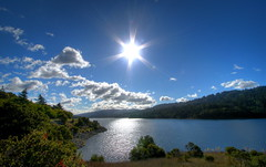 Crystal Springs (Automatt) Tags: blue sky sun water clouds star interestingness qoop top20 hdr 2007 3xp i500 fave50 clustershot qoop08 gettypick