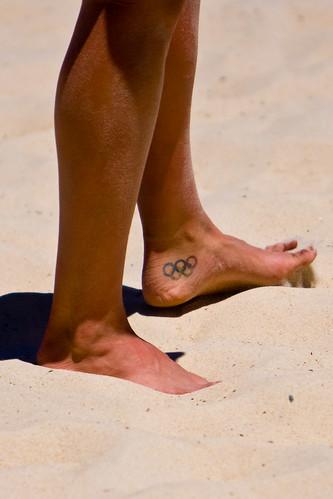 Olympic Tattoo. Beach