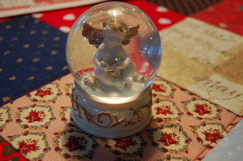 My wee snowglobe with an angel inside