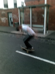 Matt skating outside Carling's house in Brunswick at 5am this morning (2)