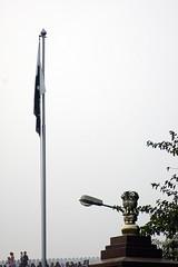 Pakistan flag and Emblem of India