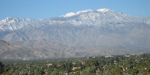 view to mt san jacinto near palm springs
