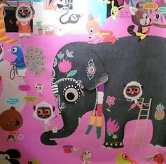 children illustration by Marc Boutavant (balavenise) Tags: pink favorite india elephant rose illustration book selection dessin fav couleur inde yourfavorites childrenillustration slection marcboutavant livrepourenfant morethan10fav