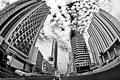 My DownTown (A.alFoudry) Tags: street city winter sky blackandwhite bw cloud white black building cars car clouds canon mall eos downtown afternoon traffic structure full fisheye frame 5d kuwait fullframe  15mm f28 ef kuwaiti q8 abdullah  canoneos5d kuw q80 q8city canonef15mmf28fisheye  xnuzha alfoudry  abdullahalfoudry foudryphotocom  kvwc kuwaitvoluntaryworkcenter