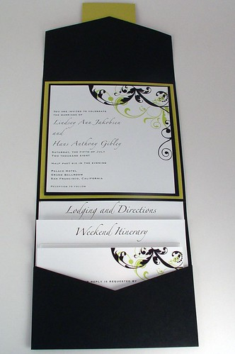 Pocketfold invitations by crescentmoonpaper.