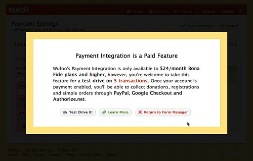 Test Drive Payment Integration