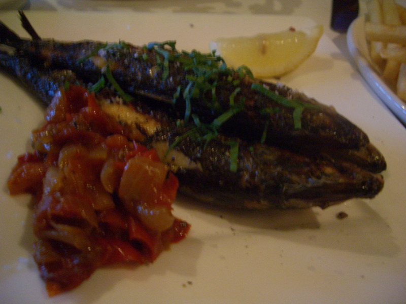 Sardines at Bouzy Rouge