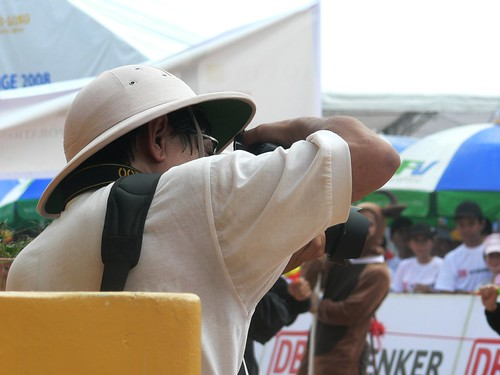 Photographer in Pith Helmet
