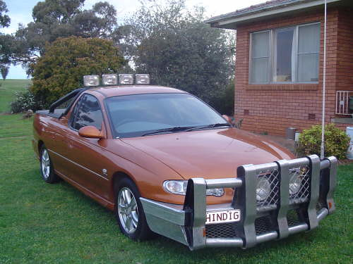 Holden Ute with Grille Gaurd