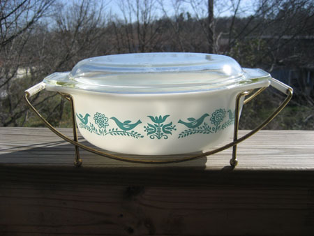 Pyrex Promotional Bluebird w/Cradle