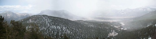 panoramic of the view from trail ridge road