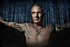 Jón Stóri aka Trítill (ASTASIF) Tags: blue men dark iceland bodylanguage tattoos icelandic skógur húðflúr tattú jónstóri