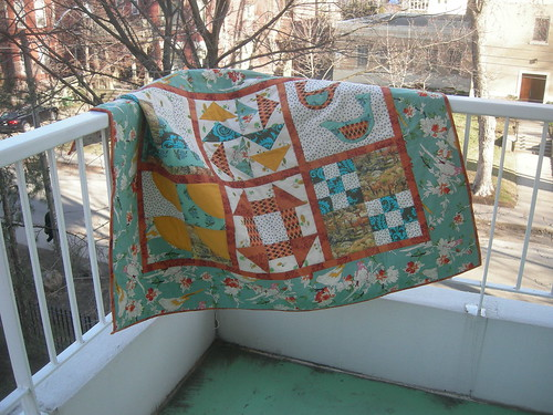 quilt outside