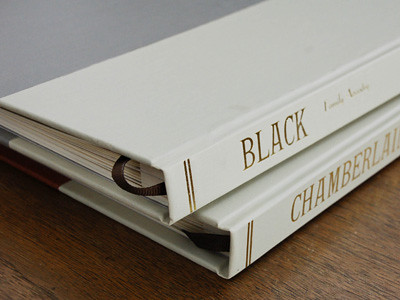 black & chamberlain - book spines