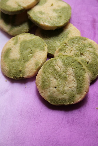 green tea & vanilla marbre biscuit