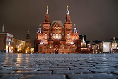 Moscow at Night (Greg Adams Photography) Tags: travel winter history tourism public night russia moscow country tourist cobblestones communism historical foreign redsquare 2008 kremlin москва mywinners hhsc2000