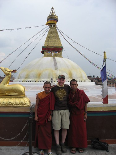 Photo op with the Buddhist monks